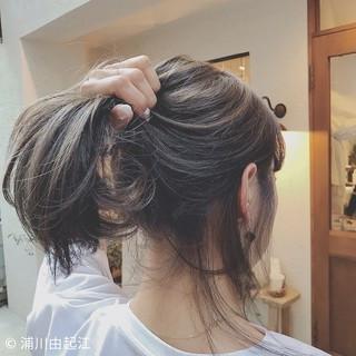 ハイライト ヘアアレンジ ナチュラル ゆるふわ ヘアスタイルや髪型の写真・画像