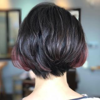 ナチュラル ピンク モード パープル ヘアスタイルや髪型の写真・画像