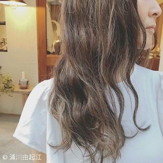 エレガント ハイライト ロング 大人かわいい ヘアスタイルや髪型の写真・画像