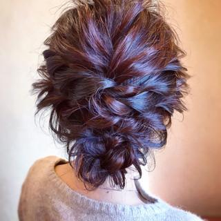成人式 結婚式 簡単ヘアアレンジ エレガント ヘアスタイルや髪型の写真・画像