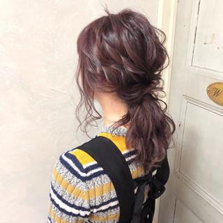 簡単ヘアアレンジ ポニーテール セミロング 大人かわいい ヘアスタイルや髪型の写真・画像 ヘアスタイルや髪型の写真・画像