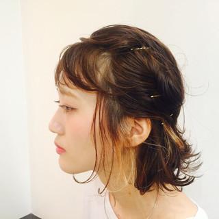 フェミニン ボブ 簡単ヘアアレンジ ショート ヘアスタイルや髪型の写真・画像