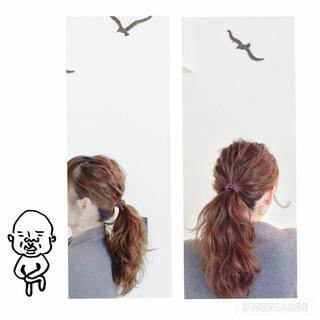 ポニーテール 簡単ヘアアレンジ ヘアアレンジ ショート ヘアスタイルや髪型の写真・画像