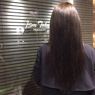 暗髪 透明感 大人かわいい ロング ヘアスタイルや髪型の写真・画像