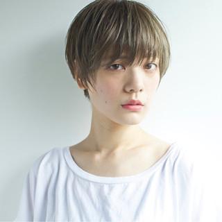 外国人風 外国人風カラー ショート 大人かわいい ヘアスタイルや髪型の写真・画像