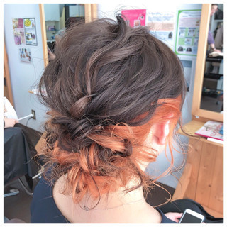 ミディアム ヘアアレンジ 簡単ヘアアレンジ 結婚式 ヘアスタイルや髪型の写真・画像