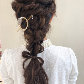 エレガント ロング パーティ ヘアアレンジ ヘアスタイルや髪型の写真・画像