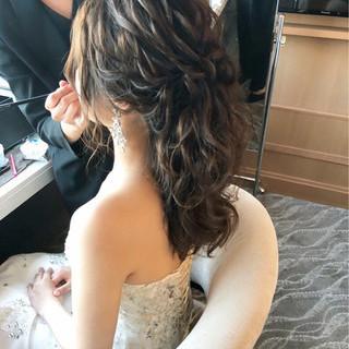 上品 ヘアアレンジ 結婚式 ゆるふわ ヘアスタイルや髪型の写真・画像