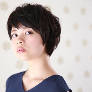 色気 かわいい ナチュラル ショート ヘアスタイルや髪型の写真・画像