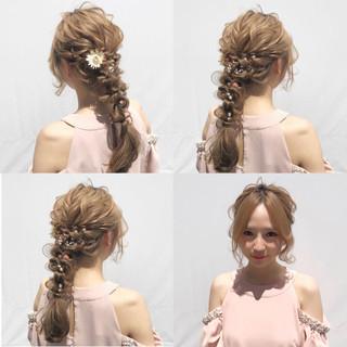 大人かわいい 上品 編み込み ボブ ヘアスタイルや髪型の写真・画像 ヘアスタイルや髪型の写真・画像