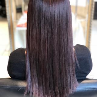 暗髪 冬カラー バイオレット ロング ヘアスタイルや髪型の写真・画像 ヘアスタイルや髪型の写真・画像