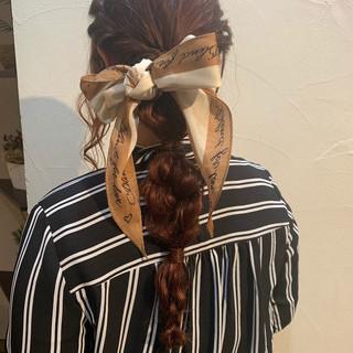 簡単ヘアアレンジ 編みおろしヘア ナチュラル ヘアアレンジ ヘアスタイルや髪型の写真・画像