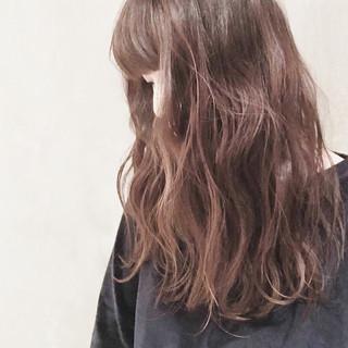 ロブ ロング デジタルパーマ ナチュラル ヘアスタイルや髪型の写真・画像