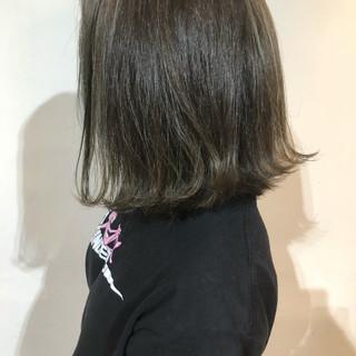 透明感 外ハネ ナチュラル ボブ ヘアスタイルや髪型の写真・画像