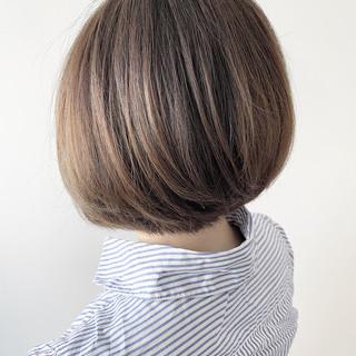 ナチュラル ショートボブ ナチュラル可愛い 丸みショート ヘアスタイルや髪型の写真・画像