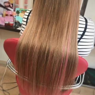 涼しげ ヘアアレンジ 夏 ロング ヘアスタイルや髪型の写真・画像