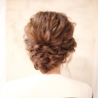 結婚式 ゆるふわ ショート 簡単ヘアアレンジ ヘアスタイルや髪型の写真・画像