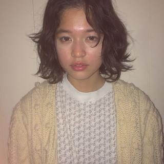 ゆるふわ 外国人風 ボブ レイヤーカット ヘアスタイルや髪型の写真・画像