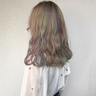 ロング 外国人風 外国人風カラー ブリーチ ヘアスタイルや髪型の写真・画像