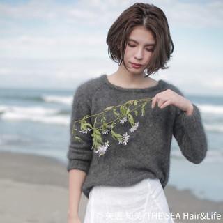ショートボブ 外国人風カラー 極細ハイライト ショート ヘアスタイルや髪型の写真・画像