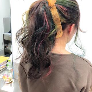成人式 ガーリー 謝恩会 ミディアム ヘアスタイルや髪型の写真・画像