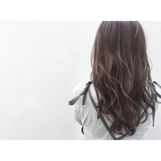 フェミニン ナチュラル 暗髪 ロング ヘアスタイルや髪型の写真・画像