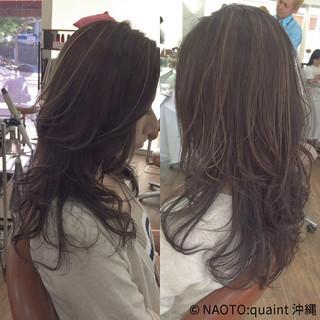 ラベンダーアッシュ 外国人風 ハイライト コンサバ ヘアスタイルや髪型の写真・画像