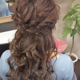 ヘアセット ヘアアレンジ 結婚式髪型 ガーリー ヘアスタイルや髪型の写真・画像
