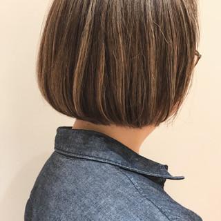 ナチュラル ボブ ミニボブ 3Dハイライト ヘアスタイルや髪型の写真・画像