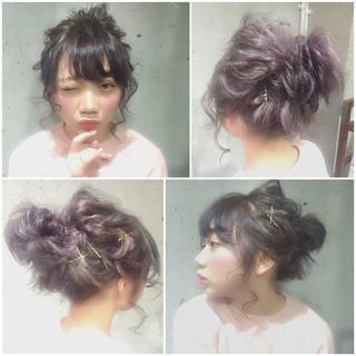 フェミニン ヘアアレンジ 簡単ヘアアレンジ ゆるふわ ヘアスタイルや髪型の写真・画像