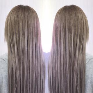 簡単ヘアアレンジ ダブルカラー ヘアアレンジ ナチュラル ヘアスタイルや髪型の写真・画像 ヘアスタイルや髪型の写真・画像