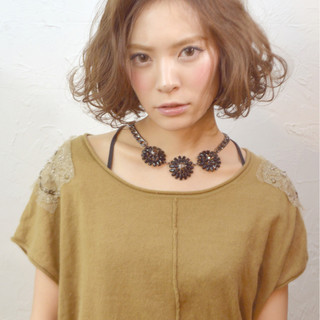 大人女子 ストリート 外国人風 ボブ ヘアスタイルや髪型の写真・画像