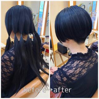 刈り上げ女子 モード ショート ベリーショート ヘアスタイルや髪型の写真・画像