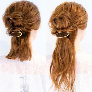 エレガント ショート ヘアアレンジ ロング ヘアスタイルや髪型の写真・画像