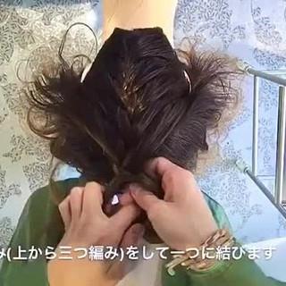 ヘアアレンジ 外国人風 ルーズ 編み込み ヘアスタイルや髪型の写真・画像 ヘアスタイルや髪型の写真・画像