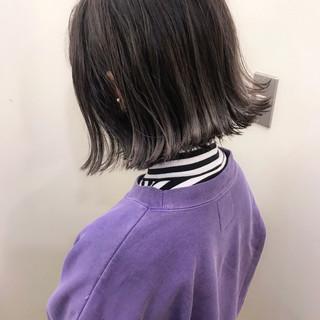 ナチュラル 大人かわいい ロブ ハイライト ヘアスタイルや髪型の写真・画像