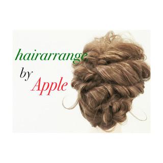 くるりんぱ セミロング ヘアアレンジ 大人かわいい ヘアスタイルや髪型の写真・画像