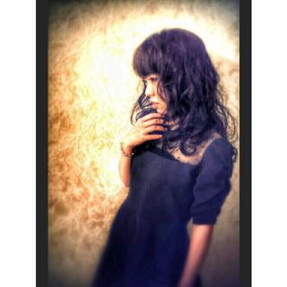 撮影 ロング サロンモデル ゆるふわ ヘアスタイルや髪型の写真・画像