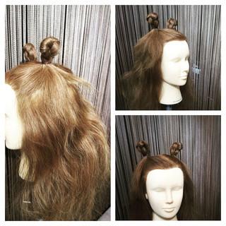 簡単ヘアアレンジ イベント ショート セミロング ヘアスタイルや髪型の写真・画像