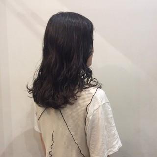 ガーリー セミロング デート かわいい ヘアスタイルや髪型の写真・画像