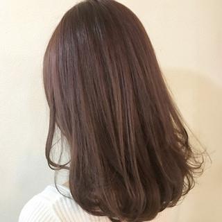 ブルージュ ラベンダーピンク ハイライト 秋 ヘアスタイルや髪型の写真・画像
