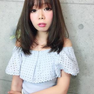 大人かわいい セミロング ナチュラル ヘアアレンジ ヘアスタイルや髪型の写真・画像