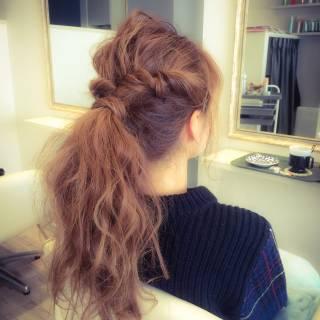 ヘアアレンジ ロング ショート 波ウェーブ ヘアスタイルや髪型の写真・画像
