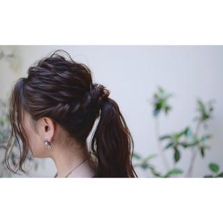 結婚式 ストリート ロング ヘアアレンジ ヘアスタイルや髪型の写真・画像