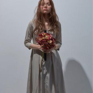 ヘアアレンジ 大人女子 ウェーブ アンニュイ ヘアスタイルや髪型の写真・画像