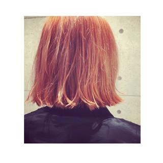 ストリート ボブ 外ハネボブ 切りっぱなしボブ ヘアスタイルや髪型の写真・画像