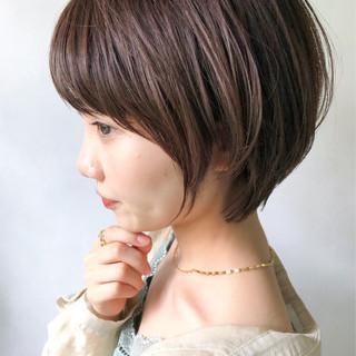 ショート ショートボブ マッシュショート アンニュイほつれヘア ヘアスタイルや髪型の写真・画像