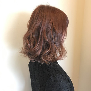 ミディアム 外国人風カラー フェミニン 夏 ヘアスタイルや髪型の写真・画像