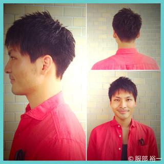 刈り上げ 黒髪 ショート メンズ ヘアスタイルや髪型の写真・画像