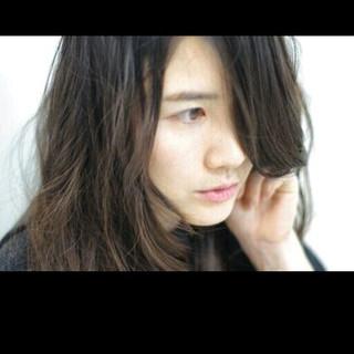 大人かわいい 黒髪 暗髪 ロング ヘアスタイルや髪型の写真・画像
